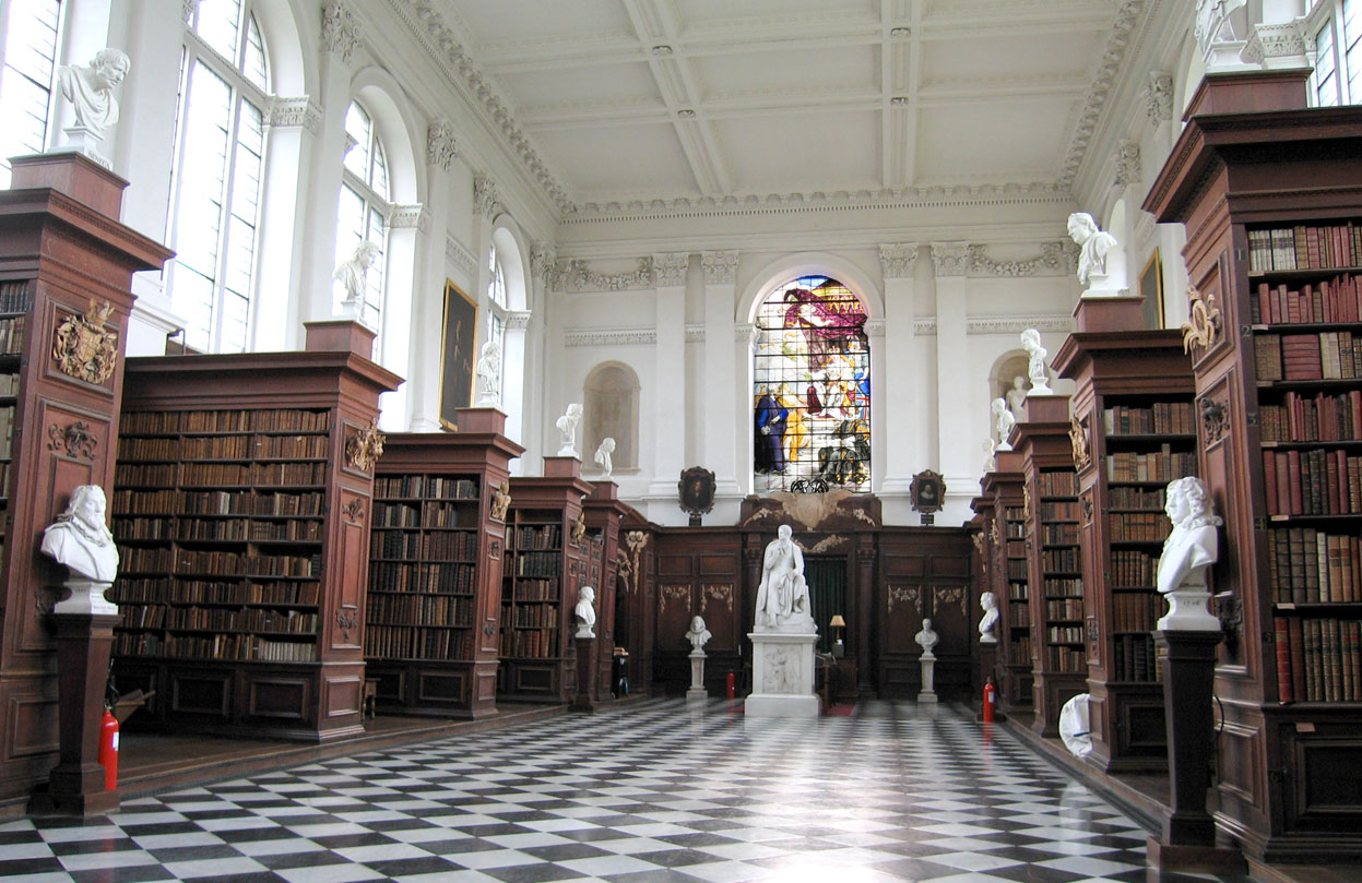 Wren Library, Trinity College, Cambridge University, Cambridge, UK